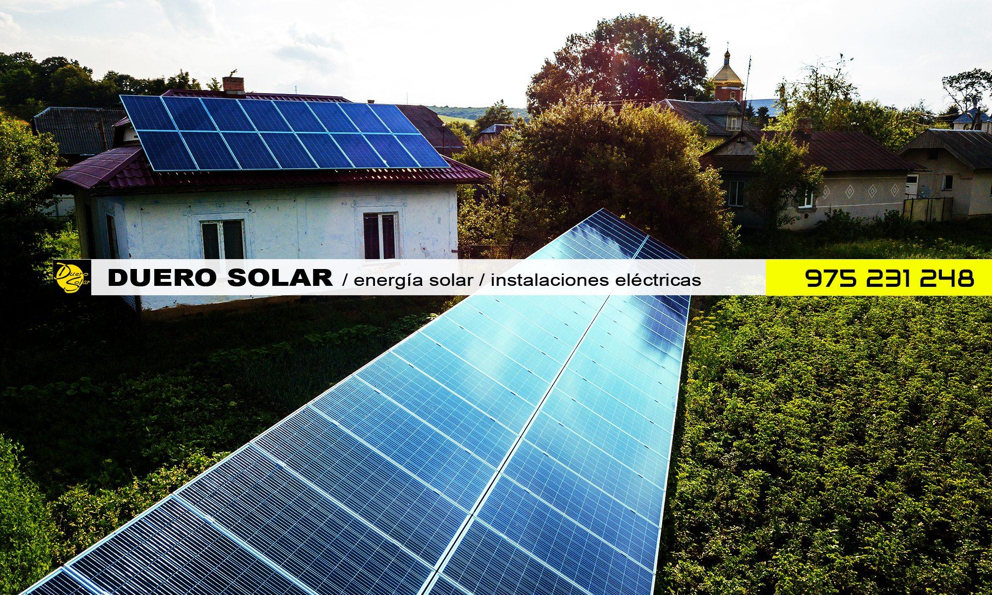 DUERO SOLAR / energía solar / instalaciones eléctricas